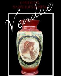 Vase Opaline Art Nouveau